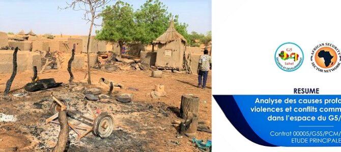 Communiqué de Presse – Publication d'une étude diligentée par le G5 Sahel sur les « causes profondes des violences et conflits communautaires ».